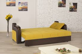 deluxe signature sofa bed in mustard fabric by casamode