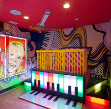 pretty pop art kids eclectic with lighted stairs colorful playroom pop art kids eclectic with neon lights pop art wall custom blinds