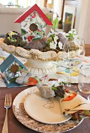casual spring tablescape new house new home