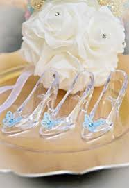 glass slipper favors mini cinderella butterfly shoe now in stock