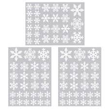 Double Sided Christmas Window Decorations by 25 Snowflakes Xmas Decor Snowflake Decorative Window Stickers Home
