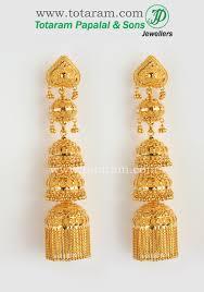 22k gold jhumka jewelry 13 gold gold jewellery