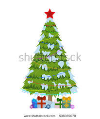 white christmas tree with colored lights merry christmas tree sign on white stock vector 2018 538359070