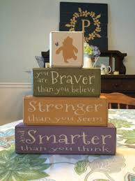 Classic Pooh Baby Shower Winnie The Pooh Nursery Decor Classic Pooh Quote Braver Stronger