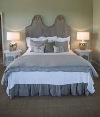 Two Twin Beds by Pine Cone Hill Bedding In Bedroom Beach Style With Green Wall