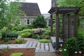 Traditional Outdoor Furniture by New England Landscape Landscape Traditional With Stone Outbuilding