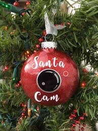 santa cam ornament santa spy camera christmas ornament