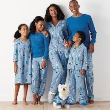 pup matching family pajamas the company store