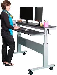 Best Sit To Stand Desk by The Best Standing Desks With Wheels For Every Budget