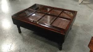 rustic coffee table military display table shadow box coffee