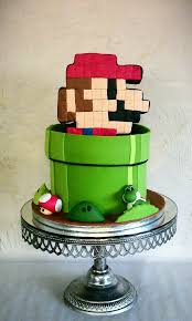 mario cake amazing mario cake blends 8 bit and modern character designs