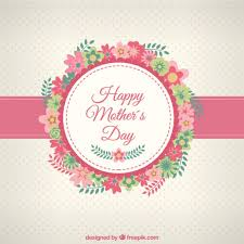 happy mothers day card with flowers vector free