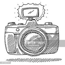 digital camera sketch vector art getty images