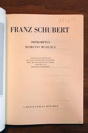 Angebote K Hen Impromptus Moments Musicaux Amazon De Schubert Bücher