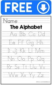free alphabet handwriting practice sheets for beginner writers in