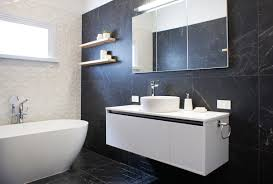 love the use of the stone mix range with mosaic feature wall by