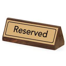 metal reserved table signs gold reserved table signs wood reserved table signs