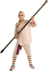avatar the last airbender halloween costumes amazon com the last airbender deluxe aang costume child small