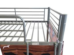 Steel Frame Bunk Beds by Foxhunter Childrens Metal Mid Sleeper Cabin Bunk Bed Kids Tent