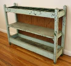 shabby chic turquoise shelf 3 picked vintage