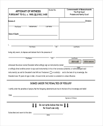 sample affidavit forms 13 free documents in pdf