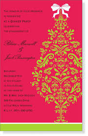 wonderful pink red themed colors with christmas party invitation