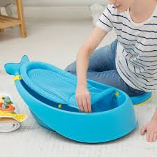 amazon com skip hop moby bath smart sling 3 stage bathtub blue