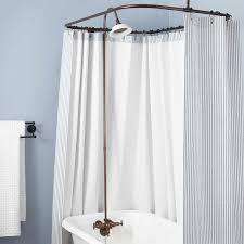 Clawfoot Tub Shower Curtain Rod You Can Make Yourself Clawfoot Tub To Shower Conversion Kits Signature Hardware