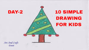 10 simple drawing for kids day 2 art and craft point youtube