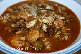 lot of 6 gumbo soup south dish seafood and okra gumbo with shrimp crab and oysters
