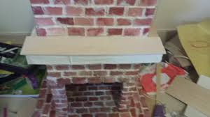 making a brick fireplace for an american christmas life in
