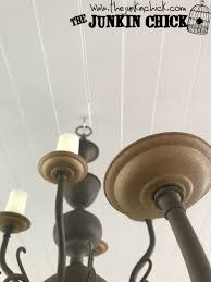 Painting Brass Chandelier Goodwill Brass Chandelier Makeover Using Driftwood Milk Paint