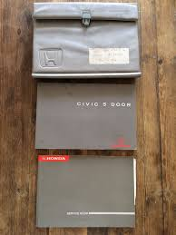 95 98 Honda Civic Owners Handbook Manual And Dealer Wallet With