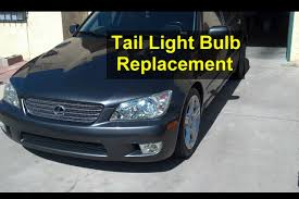 lexus toyota repair service center tail or brake light bulb replacement tail light assembly removal