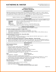 Professional And Technical Skills For Resume Resume Software Windows 8 Software Engineer Resume Samples Sample
