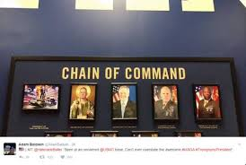 Obama Shooting Meme - us military bases taking down obama portraits replacing them with