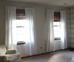 Ikea Window Coverings by Decorating Appealing Ikea Window Treatments With White Sheer