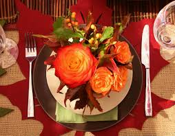 thanksgiving decorations for the home for large white table with