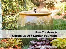 diy garden fountain excellent lowes diy garden fountain inspire