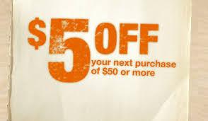 home depot 5 50 mobile coupon money saving