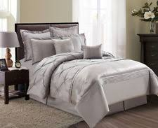 Taupe Comforter Sets Queen 7 Piece Penthouse Collection Cpr 7502 Pretty Blue Taupe Queen
