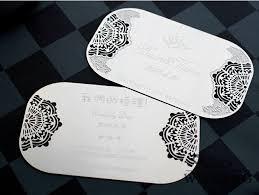 100pcs lot silver wedding invitation creative card metal