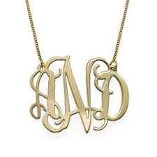 my monogram necklace 10k solid gold monogram necklace my family necklace