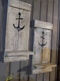rustic nautical home decor two nautical anchor pallet wall sconce beach house decor sconce