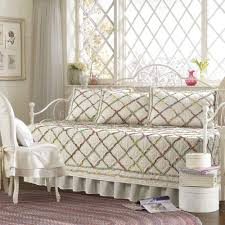 furniture white metal daybed frame with pearl trellis daybed