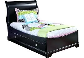 Black Sleigh Bed Sleigh Bed Daybed With Trundle Oberon Black 4 Pc Twin Sleigh Bed W