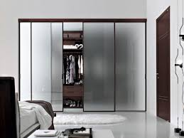 closet doors frosted glass sliding closet door with frosted glass and dark brown metal frame
