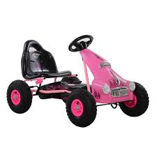 pink kid car cycle force group cycle force top racer pedal car in pink cf 015