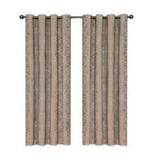Brown Linen Curtains Eclipse Meridian Blackout Linen Curtain Panel 84 In Length
