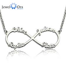 personalized necklaces 4 names personalized necklace 925 sterling silver letter necklaces